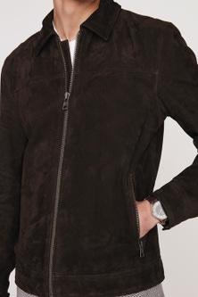 Next Signature Suede Harrington Jacket