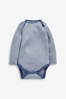 Next 7 Pack Star Stripe Long Sleeve Bodysuits (0mths-3yrs)