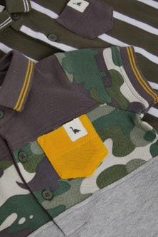 Next 2 Pack Organic Poloshirt Bodysuits (0mths-3yrs)