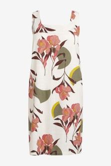 Next Linen Blend Shift Dress-Tall