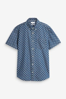Next Geo Print Short Sleeve Shirt-Tall