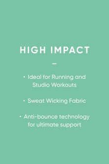 Next High Impact Lightly Padded Wire Free Full Cup Sports Bra