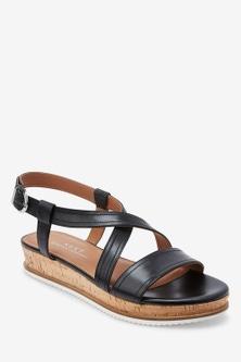 Next Forever Comfort Flatform Sandals-Wide Fit