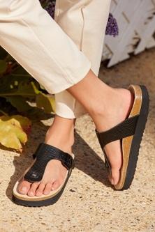 Next Forever Comfore Flatform Toe Post Footbed Sandals