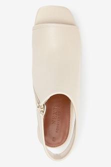 Next Block Heel Slingback Shoe Boots