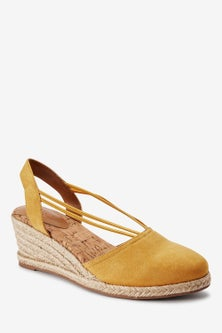 Next Closed Toe Espadrille Low Wedges