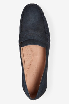 Next Leather Forever Driver Shoes-Wide Fit