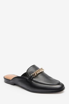 Next Forever Comfort  Leather Hardware Loafer Mules