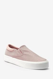 Next Chunky Slip-On Trainers-Wide Fit
