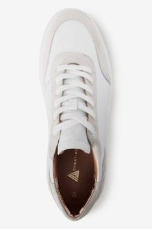 Next Signature Leather Back Detail Trainers