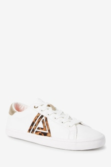 Next Lace-Up Triangle Trainers
