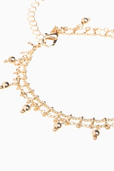 Next Beaded Two Layer Anklet