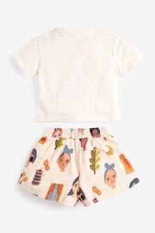 Next Faces T-Shirt And Shorts Co-ord Set (3mths-7yrs)