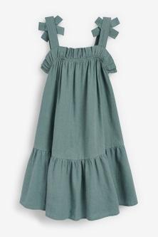 Next Tiered Linen Blend Dress (3-16yrs)