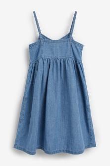 Next Denim Midi Dress (3-16yrs)