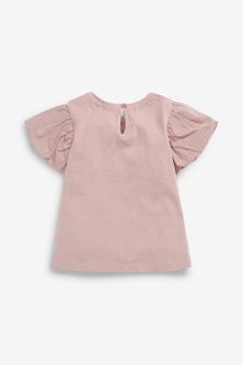 Next Organic Cotton Puff Sleeve T-Shirt (3mths-7yrs)