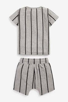 Next Vertical Stripe T-Shirt and Shorts Set (3mths-7yrs)