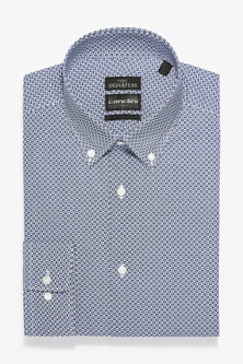Next Slim Fit Geometric Print Canclini Signature Shirt