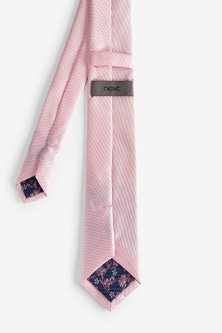 Next Tie With Floral Pocket Square and Tie Clip Set