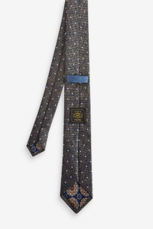 Next Spot Tie With Printed Pocket Square And Tie Clip Set