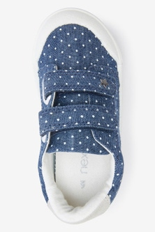 Next Toe Bumper Canvas Trainers (Younger)-Wide Fit