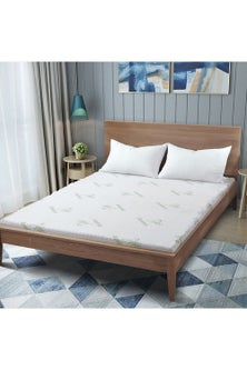 Dreamaker 8CM 5 Zone Memory Foam Underlay With Bamboo Cover