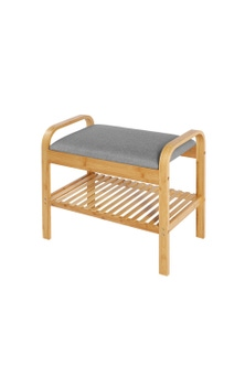 Sherwood Home Seated Shoe Bench and Storage Rack
