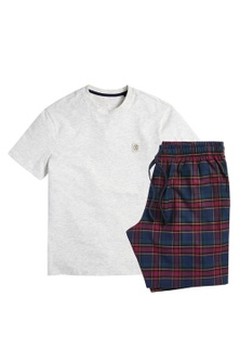 Next Woven Check Pyjama Set