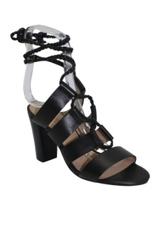 Human Premium Joelle Leather Block Heel Strappy Sandal