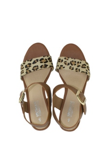 Human Premium Kingston Leather Block Heel Sandal