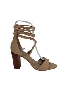Human Premium Lawton Leather Block Heel Strapped Sandal