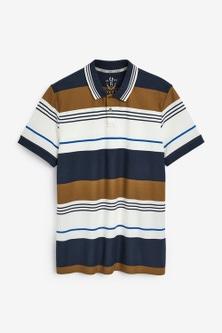 Next Stripe Pique Polo Shirt