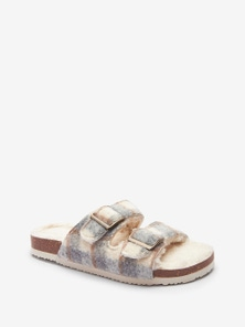 Next Two Band Buckle Slider Slippers