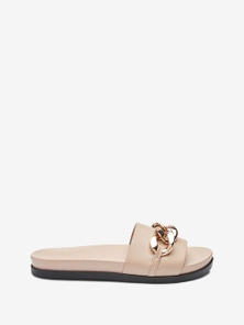 Next Chain Footbed Slider Sandals