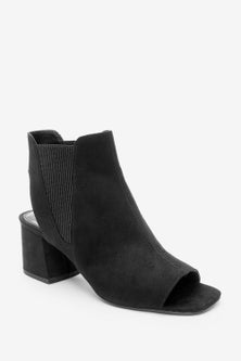 Next Elastic Side Block Heel Shoe Boots