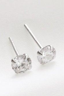 Next Plated Cubic Zirconia Stud Earrings