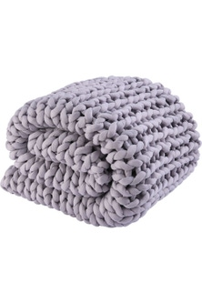 Serene 7KG Hand Woven Knit Weighted Calming Blanket 150x200cm