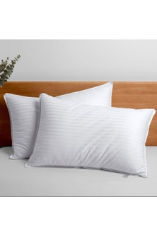 Dreamaker Rolled Microfibre Pillow Twin Pack