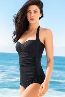 Quayside Boyleg Ruched Bodice Swimsuit