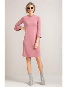 Emerge Knit Ruffle Dress