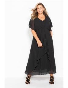 Sara Pleat Maxi Dress