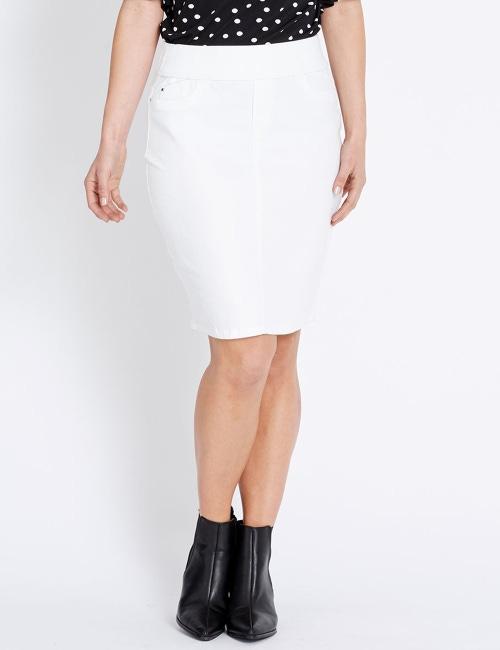 find lowest price nice cheap bottom price Katies Pull On Denim Skirt