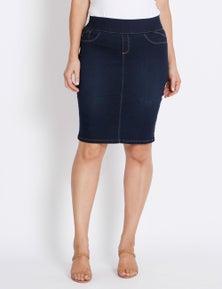 Katies Pull On Denim Skirt