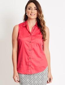 Katies Sleeveless Cotton Shirt