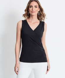 Katies Ruched Wrap Top