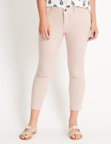 Katies 7/8 Mid Rise Skinny Denim Jeans