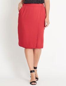 Katies Button Detail Barcelona Skirt