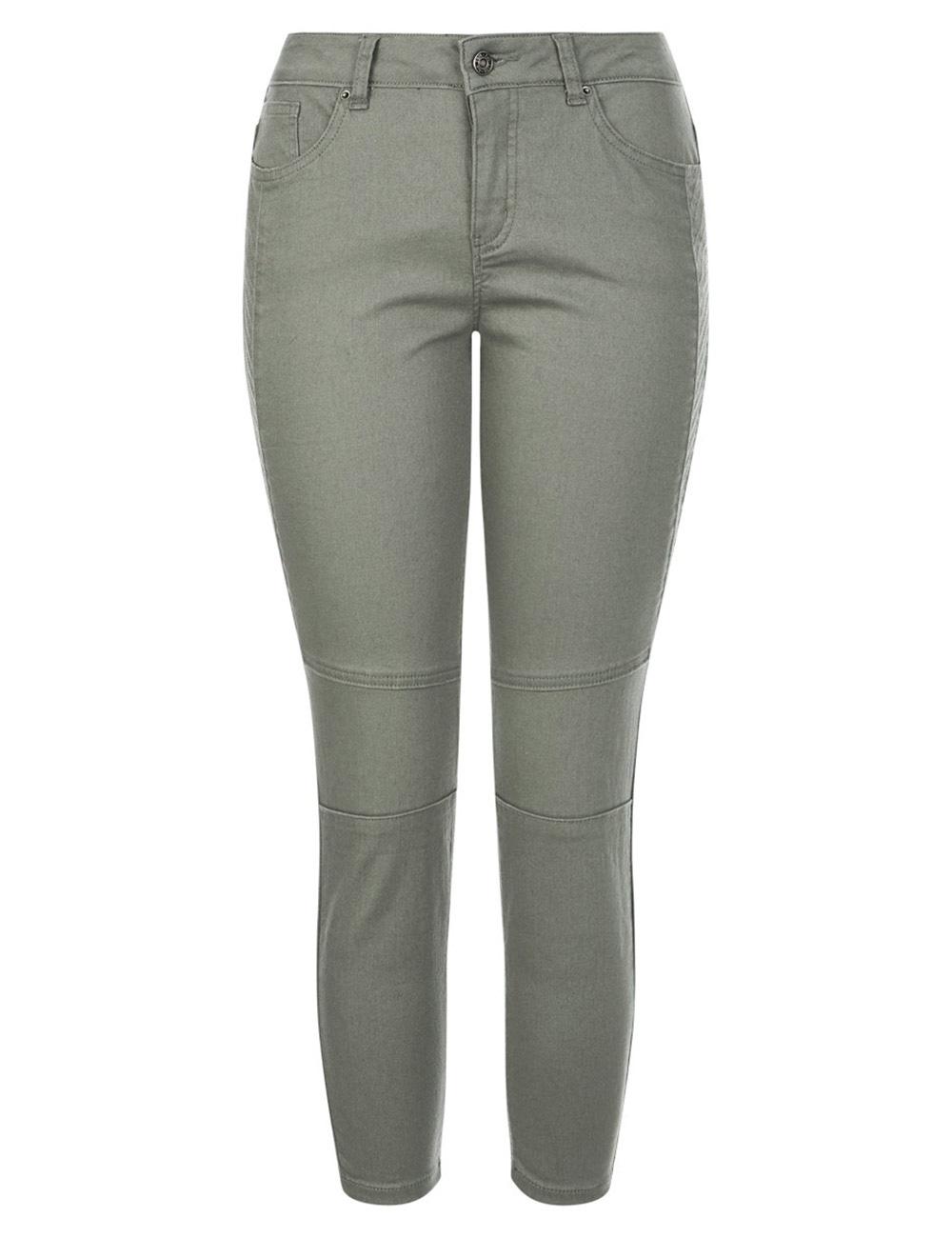 Katies Mid Rise Seamed Detail Ankle Grazer Denim Jeans - Garment Dye Washed K