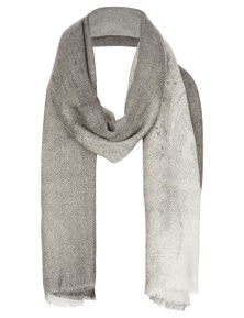 Katies Paisley Ombre Grey Scarf