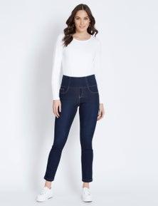 Katies Full Length Skinny Shape And Curve Denim Jeans